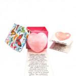 Сърце от розов кварц, подарък за Свети Валентин или 8-ми Март