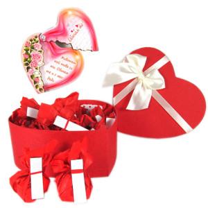 Романтичен шоколадов подарък, подходящ подарък за Свети Валентин, подарък за 8-ми Март