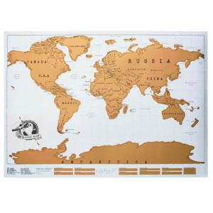 Скреч карта на света, подходящ подарък за дете, авантюрист, рожден ден и имен ден