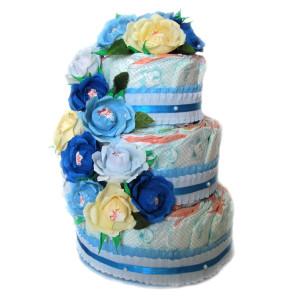 Торта от памперси, подходящ подарък за бебе, млада майка или младо семейство