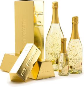 Златното шампанско, подходящ подарък за Свети Валентин, 8-ми Март или рожден ден